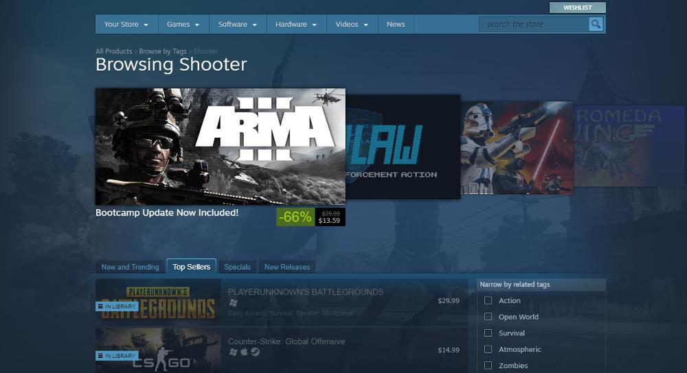 Steam Store Shooter