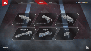 Apex Legends Armory of Weapons