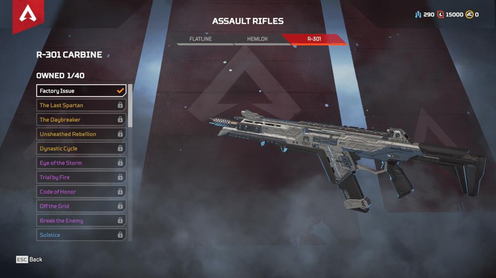R-301 Carbine Assault Rifle Apex Legends